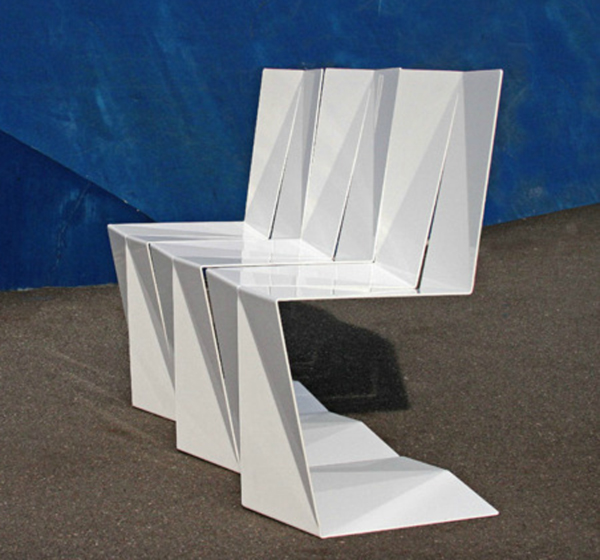 White Folded Chair by Enoc Armengol