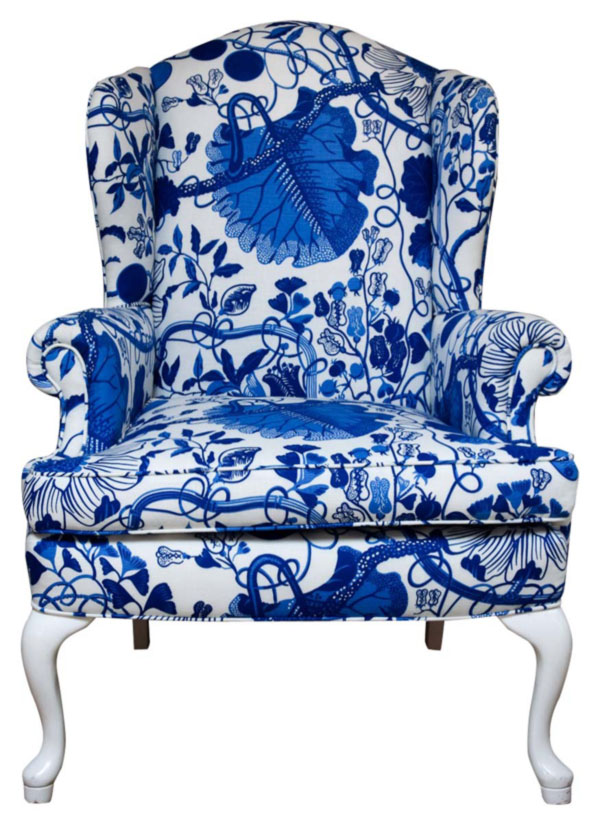Wingback Upholstered With Josef Frank Textile
