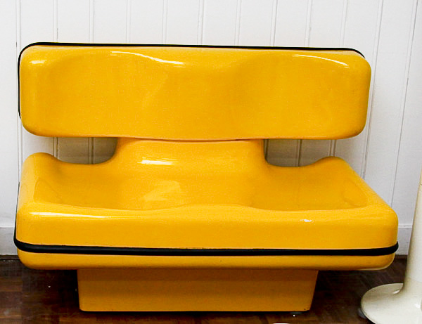 Yellow Settee by Dominique Prevot