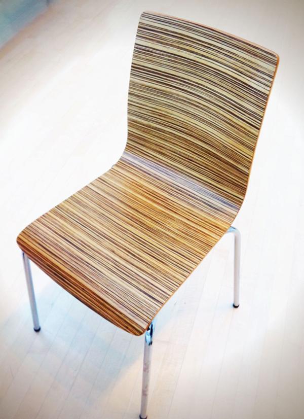 Superbe Zebra Plywood Chair