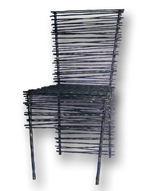 black mikado chair