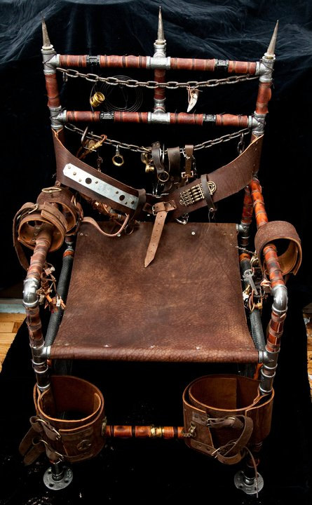 Steampunk chair by overclock for Steam punk chair