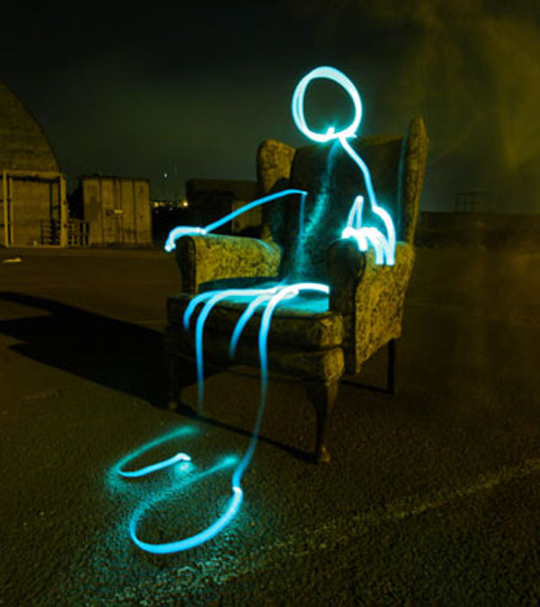 Light Graffiti Chair Photo by Michael Bosanko