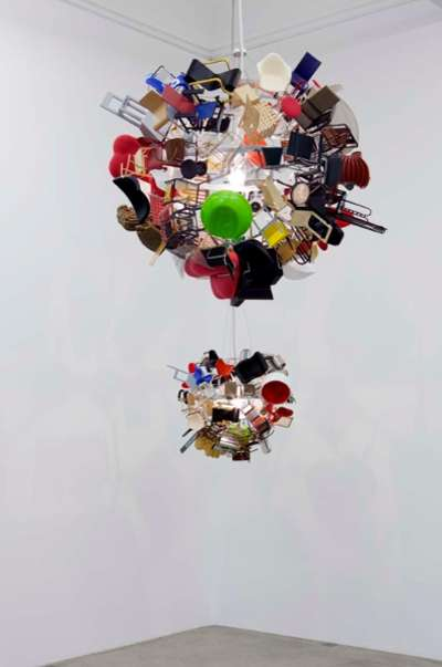 mini vitra chair chandelier by paola pivi