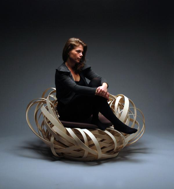 Nina Bruun in her Nest Chair