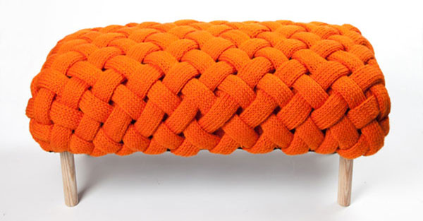 orange fite bench by Clair-Anne O'Brien