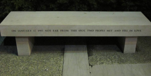 Poetic Memorial Bench