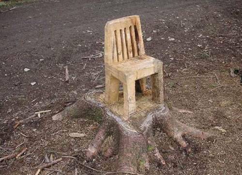 Beau Another Tree Stump Chair U2026