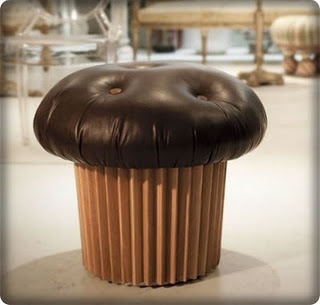 Chocolate Cupcake Pouf